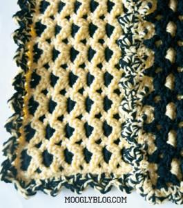 Go Team Colors Baby Blanket free crochet pattern sports team blanket crochet baby blanket pattern