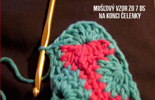 Katkina háčkovaná čelenka Catherine Crochet Headband free crochet pattern slovak
