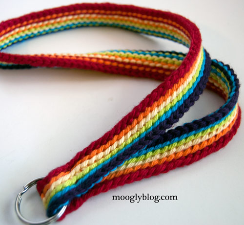 rainbow stripes slip stitches custom lanyard free crochet pattern