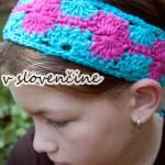 Katkina háčkovaná čelenka catherine crochet headband free crochet pattern hair slovak