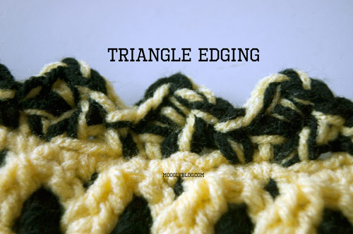 Triangle Crochet Edging Free Pattern And Video Tutorial
