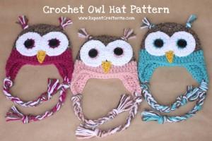 crochet owl pattern free crochet owl patterns crocheted owls owl hat pattern