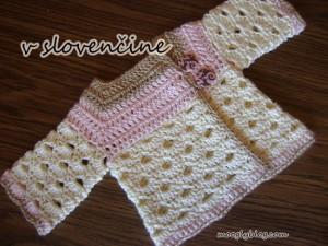 v slovenčine mini moogly sveter mini moogly sweater baby cardigan free pattern