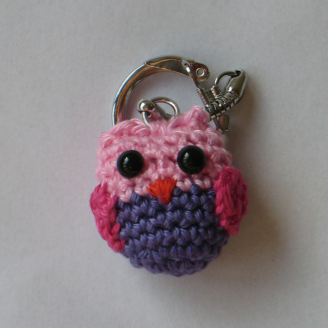 ... owl pattern free crochet owl patterns crocheted owls owl keychain
