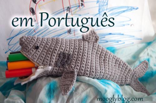 shark time pouch Estojo tubarão portuguese shark week