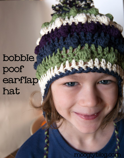 free bobble poof crochet earflap hat pattern free crochet hat pattern kids adult earflap hat