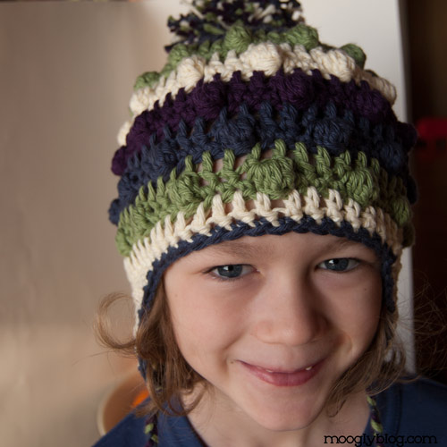 Free Crochet Patterns For Earflap Hats : Free Pattern: Bobble Poof Crochet Earflap Hat