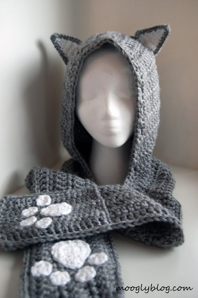 Free Pattern Cuddly Cat Crochet Scoodie Unique Free Hooded Scarf Crochet Pattern