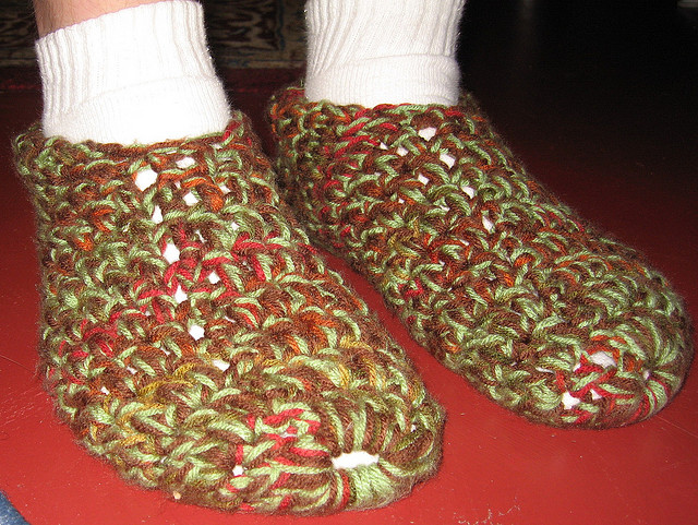 Crochet Patterns For Men Slippers Men Free Crochet Slippers