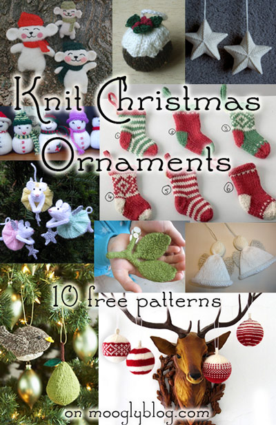 10 Free Knit Christmas Ornament Patterns