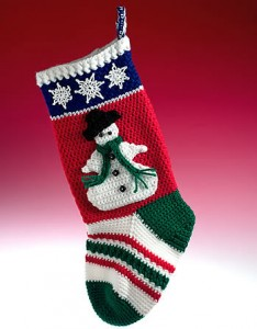 free crochet christmas stockings patterns