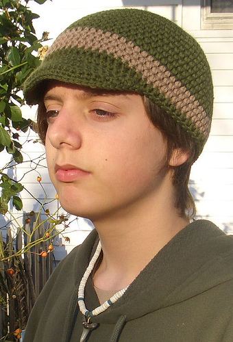 Free Crochet Pattern Beanie With Brim : One Skein Crochet Gifts for Men