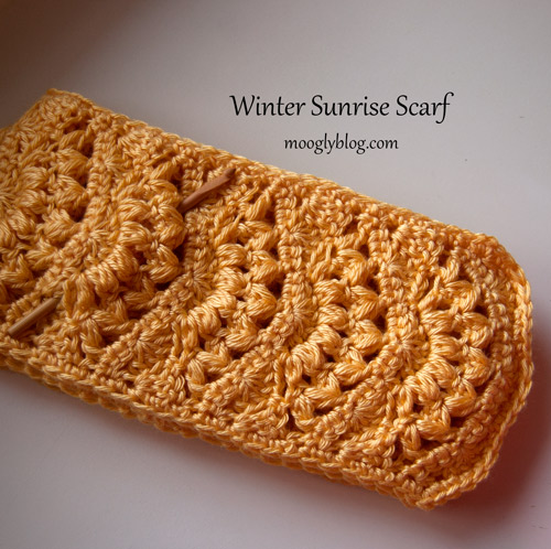 winter sunrise scarf free crochet scarf pattern crochet gift ideas