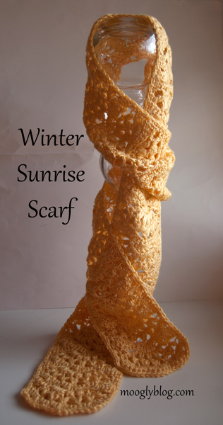 Winter Sunrise Scarf by Moogly Blog