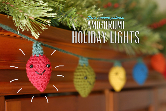 Amigurumi Holiday Lights and more festive and free crochet garland ...