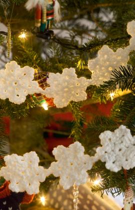 Deck The Halls With Crochet Christmas Garlands