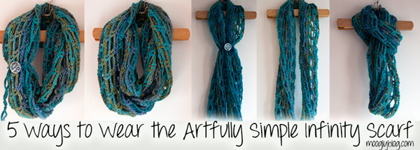 So many ways to wear this cowlscarf Super easy crochet pattern for  How To Wear An Infinity Scarf Tutorial