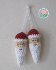 Amigurumi Sanat Ornaments :: free #crochet pattern!