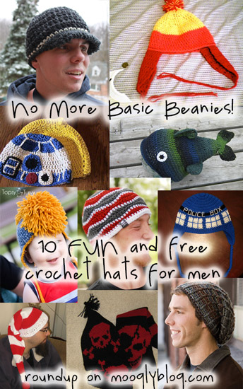 free crochet hat patterns for men crochet hats for men beanies sci fi fan slouch waves