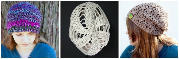 One skein #crochet hat patterns - all free! From Mooglyblog.com