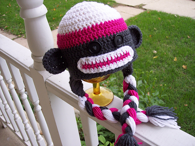 Free Crochet Patterns Monkey Hat : Its Monkey Madness with 10 Free Crochet Sock Monkey Patterns!