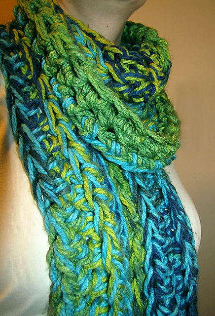 Crochet Scarf Patterns Using Q Hook : Crochet & Knit on Pinterest Hooded Scarf, Ruffle Scarf ...