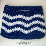 free pattern crochet chevron bag chevron purse zig zag