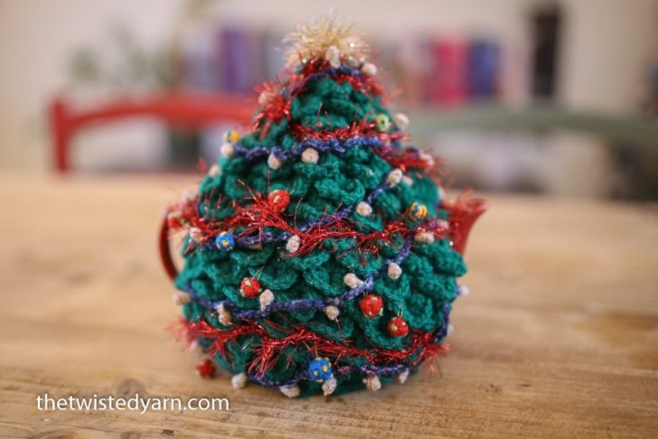 Christmas Crochet Teapot Cozy by The Twisted Yarn