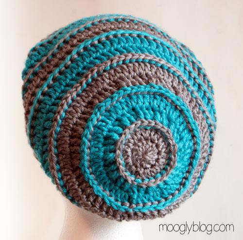 All Crochet : hat pattern free crochet patterns striped slouch hat crochet pattern