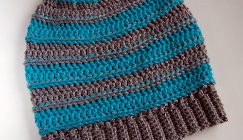 fb15185443e Free Pattern  All Grown Up Striped Slouch Hat