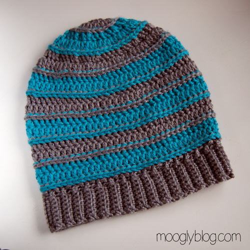 Free Crochet Pattern Slouchy Hat With Brim : Free Pattern: All Grown Up Striped Slouch Hat