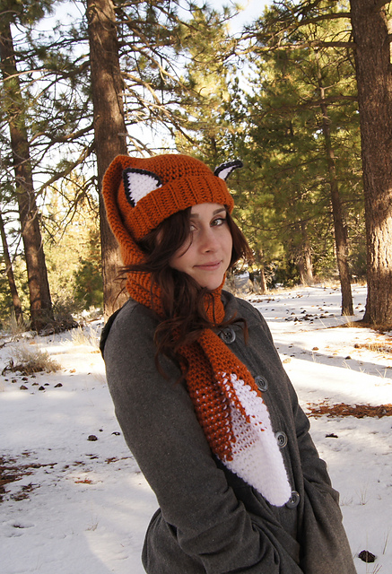 Fox Scarf and other amazing fox crochet patterns - a great list of fox ...