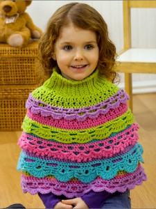 Girl's Ruffle Capelet (and more great free ruffle crochet patterns!) via mooglyblog.com #crochet