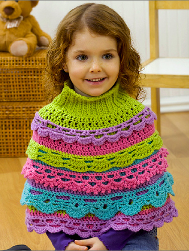 Knitting Pattern For Baby Capelet : Romantic, and Remarkable: Free Ruffle Crochet Patterns!