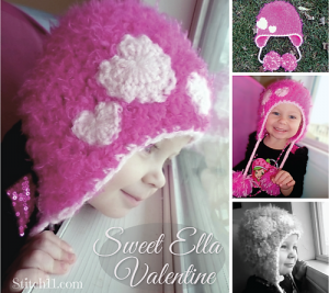 Sweet Ella Valentine  and other free Valentine's Day Crochet Patterns! #crochet