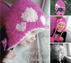 Sweet Ella Valentine and other free Valentine's Day Crochet Patterns! #crochet