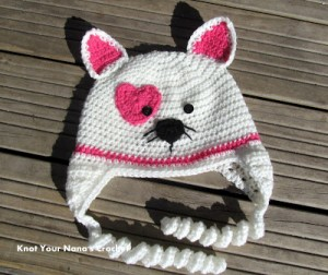 Valentine's Kitty Hat and other free Valentine's Day Crochet Patterns! #crochet