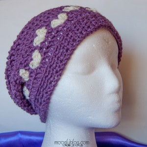 All Mine Crochet Slouch Hat: free Valentine's Day Crochet pattern! #crochet