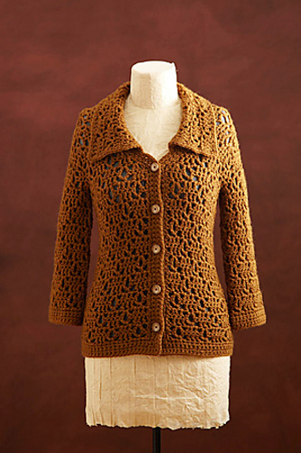Textured Jacket by Doris Chan, for LIon Brand - free #crochet pattern!