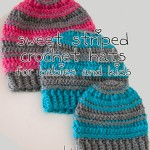 Sweet Striped Crochet Hat