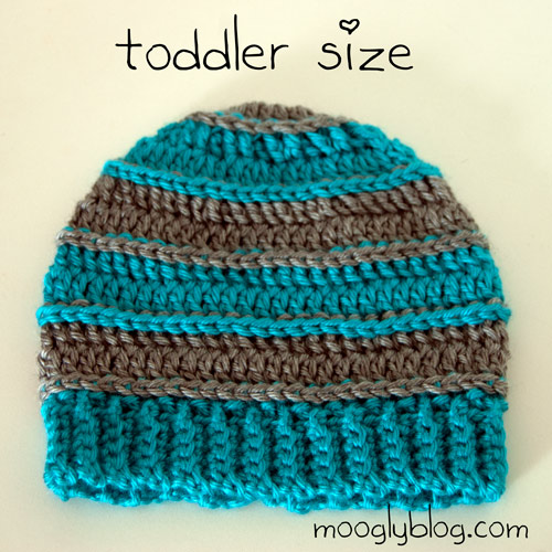 Free Crochet Patterns For Baby Toddler Hats : Free Pattern: Sweet Striped Crochet Hat - for Babies and Kids!