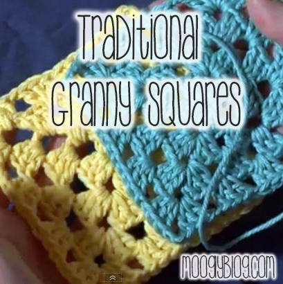 Crochet for Beginners! Learn how to  #crochet the Traditional Granny Square, From Mooglyblog.com