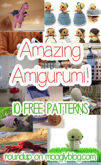 Amazing Amigurumi - both knit and crochet amigurumi patterns, and they're all free!