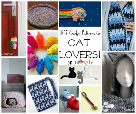 Free #crochet patterns for Cat Lovers! ♥ Roundup on Mooglyblog.com