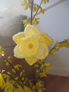 Daffodils of Spring on CrochetMe - free pattern! #crochet #spring