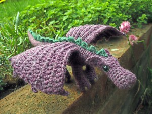 Fierce Little Dragon - free amigurumi patterns! #crochet