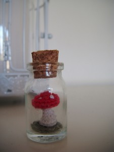 Mushroom in a Bottle - free amigurumi patterns, definitely advanced! #crochet