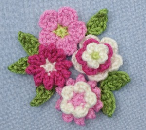 Posey Blossoms by PlanetJune - free pattern! 9 components, 7 combinations! #crochet #spring