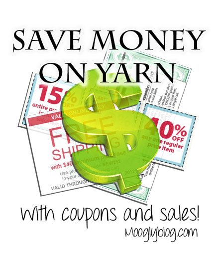 Save money on YARN! Get the best deals at the craft stores - JoAnn, Michaels, Hobby Lobby, AC Moore, Herrschners, Craftsy, and more!