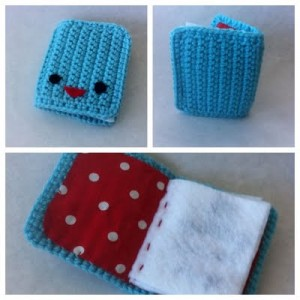 Stitch-a-Book - Perfect for sending a special message, or use it as a needle holder! So cute! #crochet on pinterest